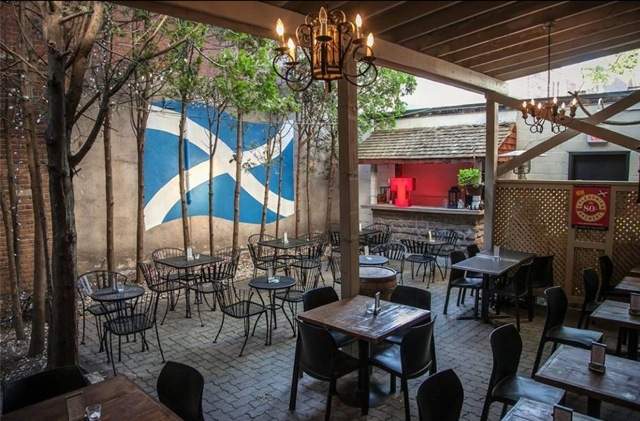 The Caledonian patio