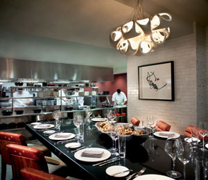 Entertain clients at the chef's table in Toca's kitchen