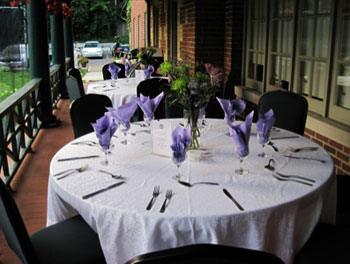 Two verandhas at the High Park Club offer outdoor hosting