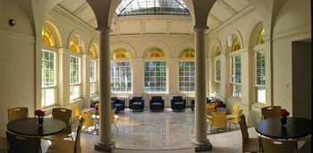 Airy and elegant, the Solarium at Christie Mansion