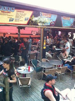 The Cadillac Lounge has a huge patio