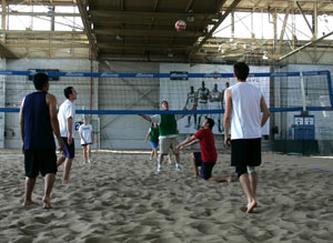 Play beach volleyball year-round at The Hangar at Downsview Park Sports Centre