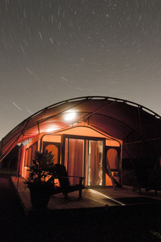 Roughing it takes on a whole new meaning in Long Point Eco-Adventures luxury tents