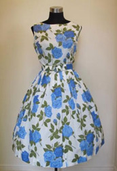 A fresh-faced 1950s cocktail dress from Gadabout Vintage