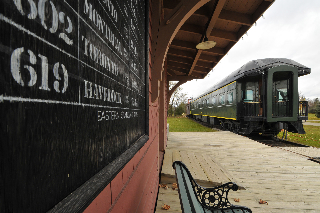 Markham Museum includes an old train station