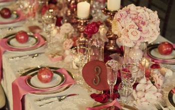 Sparkling crystal stemware and gilt-edged dishes give tables a regal sophistication. Photo courtesy of Susan Murray International