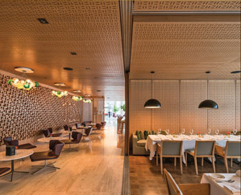 Sliding doors enclose the private dining room at Bosk