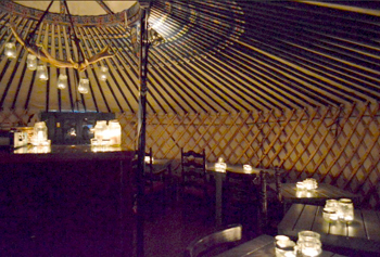 Check out Ceili Cottage's Mongolian yurt while it's up