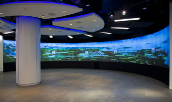 APG Displays throws flat panel screens a curve