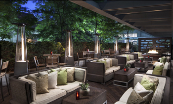 The DEQ Terrace Lounge at the Ritz-Carlton