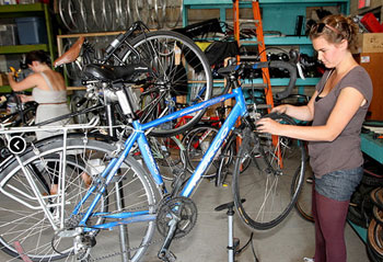 Refurbish bikes for the underprivileged at Evergreen