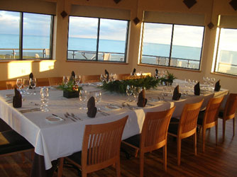 The vista from Viewpointe Estate Winery's Erie Room