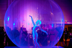 Lighting at the ISES Glow gala. Photo credit David Goorevitch, Awe & Then Some Photography