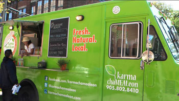 Karma KaMEALeon puts vegan on wheels. Photo credit Alicia Gallant
