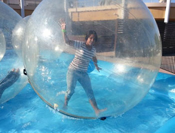 Have fun in a Bubble Roller from Superior Events