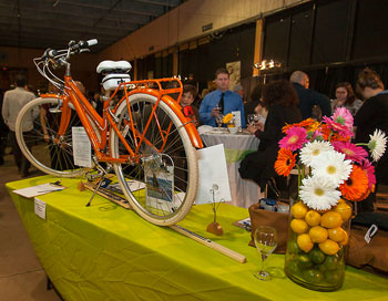 Silent auction at this year's Recipe for Change, a FoodShare fundraiser