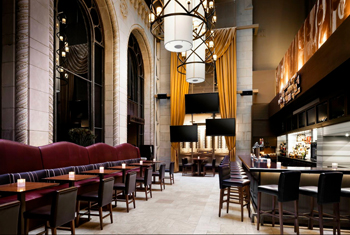 Turf Lounge's grand Atrium Bar
