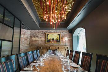Private dining room at Los Colibris